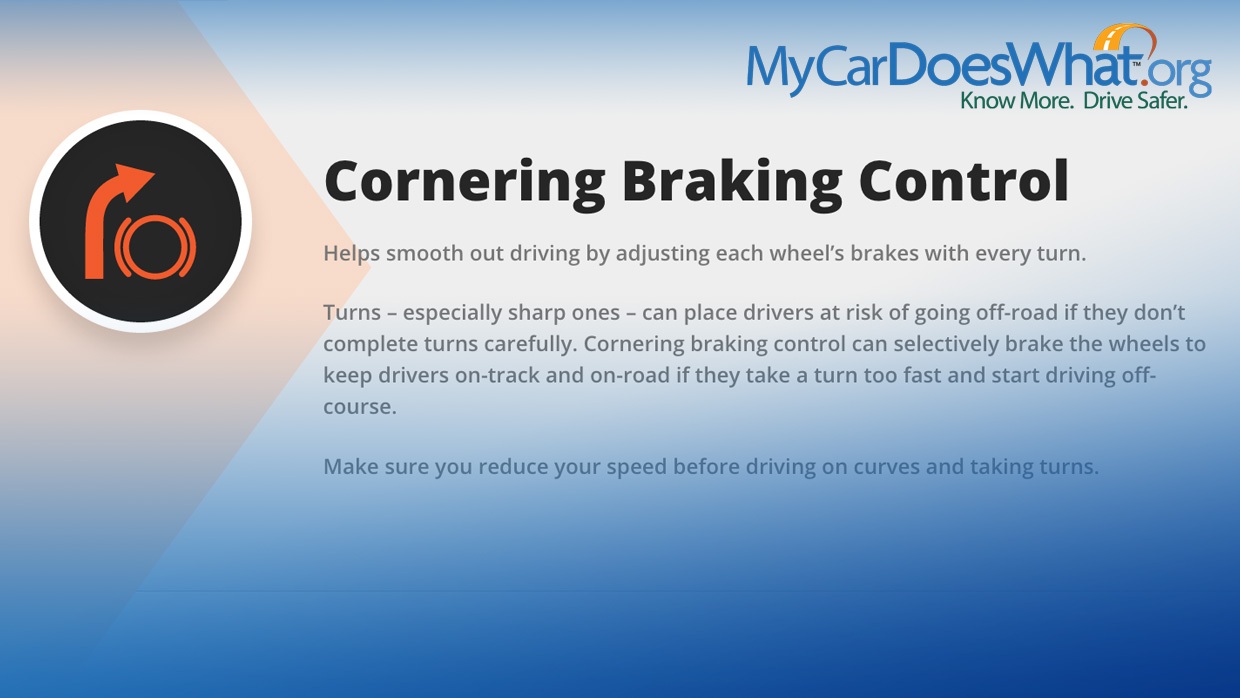 Cornering Braking Control My Car Does What