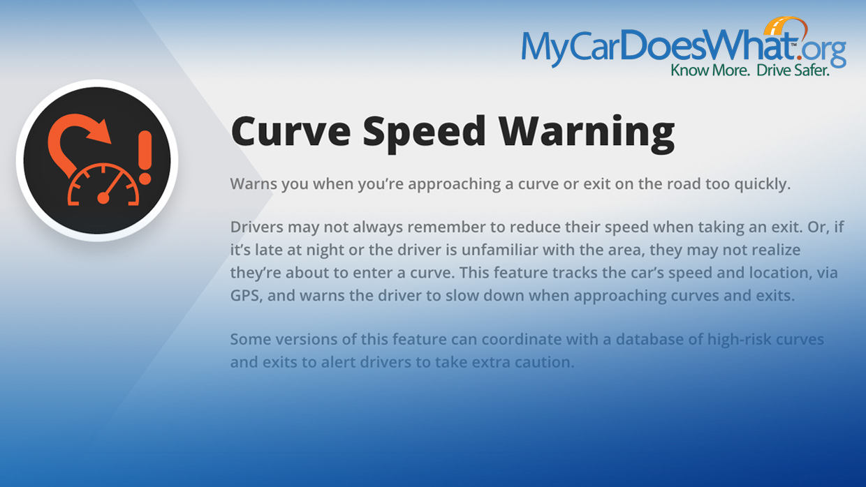 Curve Speed Warning: My Car Does What