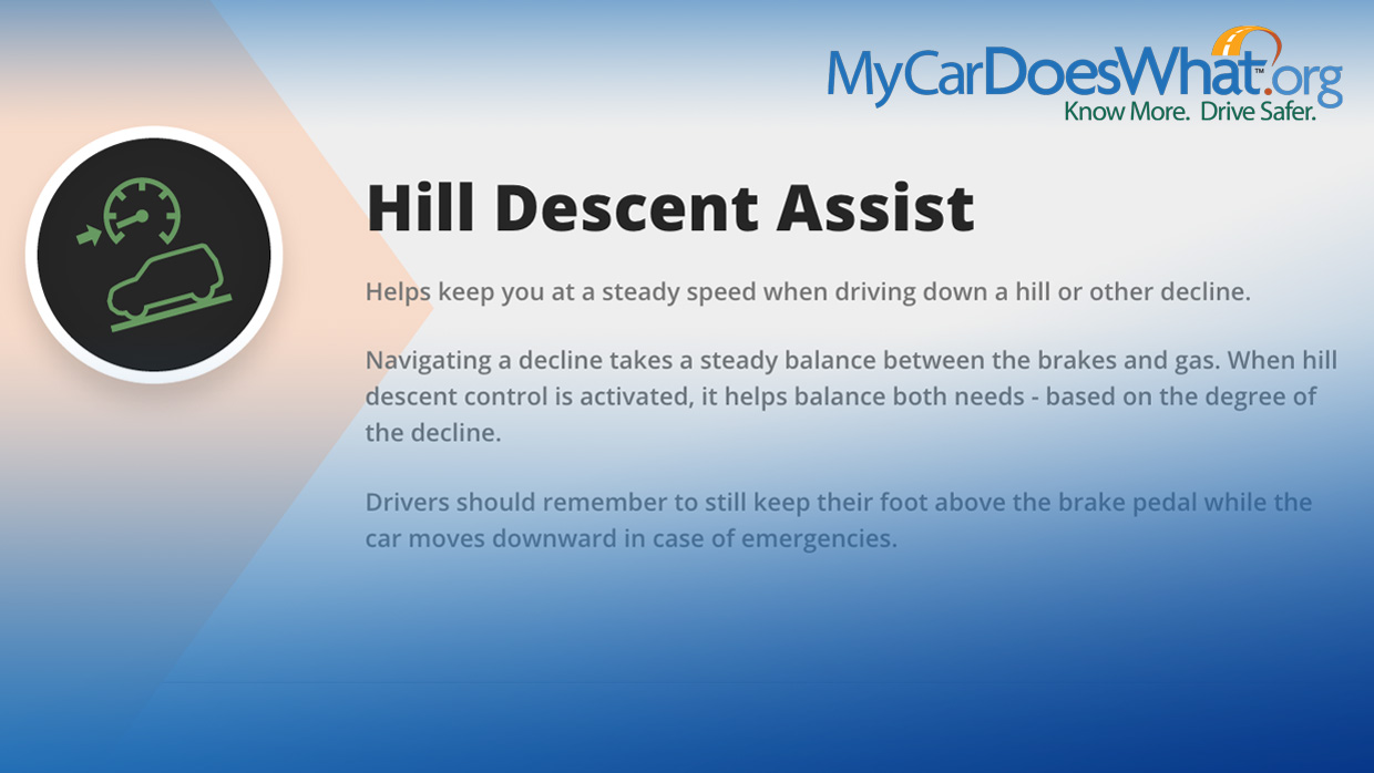 Hill Descent Control System My Car Does What Nissan Cruise Diagram