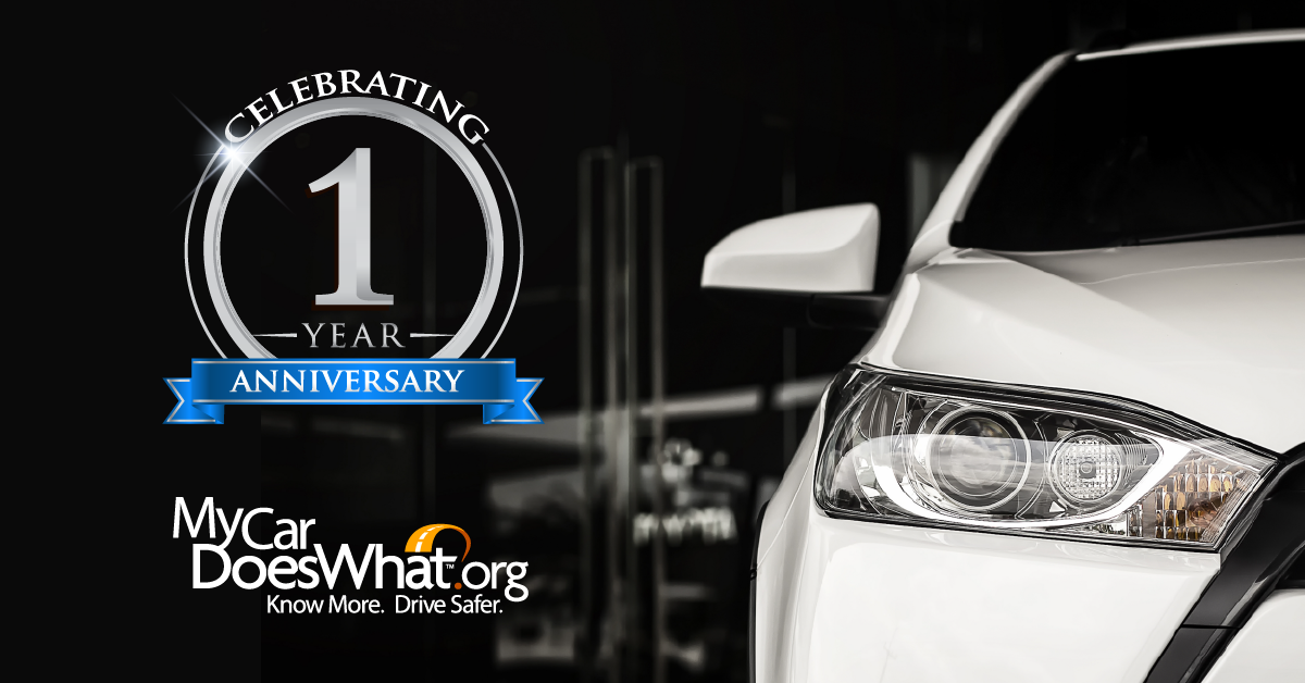Happy Anniversary! MyCarDoesWhat Celebrates a Year of Progress